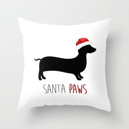 Santa Paws Throw Pillow