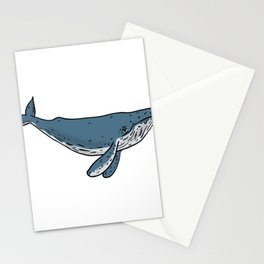Humpback Whale Color Drawing Stationery Cards
