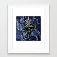 kraken Framed Art Prints featuring Kraken by Spooky Dooky