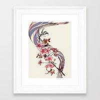 blossom Framed Art Prints featuring Blossom by Huebucket