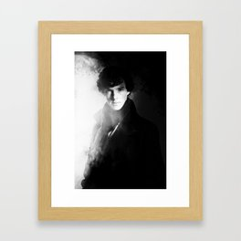 AMAZING SHERLOCK - BLACK & WHITE Framed Art Print