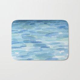 Sunset and Ocean Watercolor Bath Mat