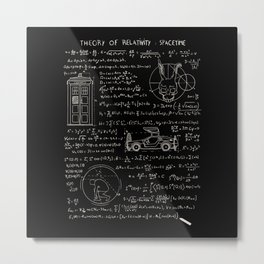 Theory of relativity : spacetime Metal Print