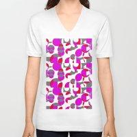 chakra V-neck T-shirts featuring Chakra Movements  by MZ Designs