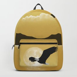 Perfect Gold Moon Eagle Backpack