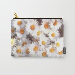 Spring Daisy Wildflower Watercolor Carry-All Pouch