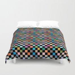 Multicolour Squares Checkerboard Duvet Cover