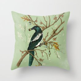 Magpie Jewels Throw Pillow
