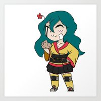 chibi Art Prints featuring Chibi by K-Boomsky