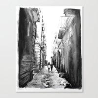 barcelona Canvas Prints featuring Barcelona by Rebekah Robinson
