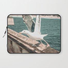 Seagull Taking Flight // California West Coast Pier Vibes Beach Ocean Surf City USA Laptop Sleeve