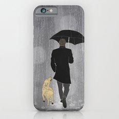 Dog walk in rain iPhone 6s Slim Case