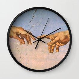 Michelangelo's Creation Wall Clock