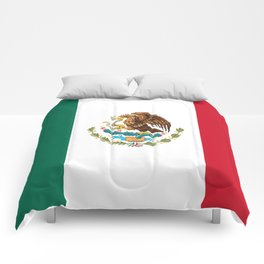 mexican sports fan mexico flag Comforters
