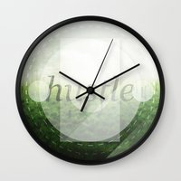 hustle Wall Clocks featuring Hustle by beardasaurus