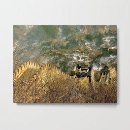 The Great Wall, Mutianyu Metal Print