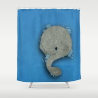 manatee Shower Curtains featuring Manatee by Acrosanti