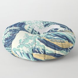 The Great Wave Eruption And Kaleidoscope Bacground Floor Pillow