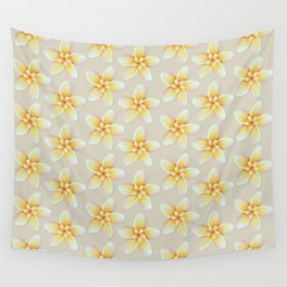 Yellow Flower, Floral Pattern, Yellow Blossom Wall Tapestry