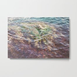 Colorful Ocean Wading Metal Print