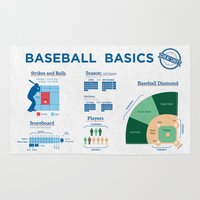 baseball Area & Throw Rugs featuring Baseball by Sharayah Mitchell
