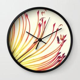Pincushion Botanical Print Wall Clock