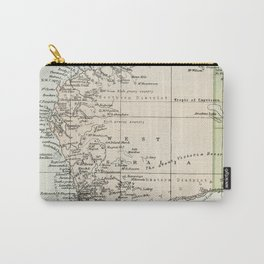 Vintage Map of the West Of Australia Carry-All Pouch