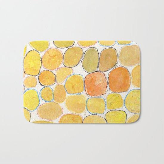Cheerful orange Gathering Bath Mat