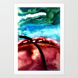 the earth is on fire Art Print