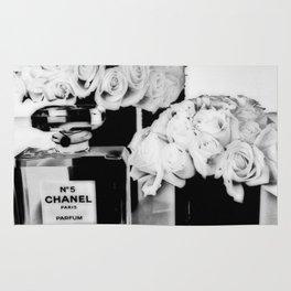 CHANELNo. 5 Black and White Rug