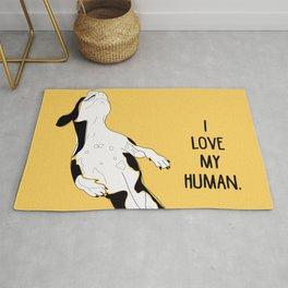 Summer Fun-I love my human! (yellow) Rug