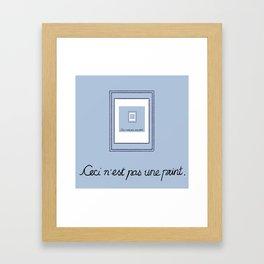 Ceci N'est Pas Une Parody Framed Art Print