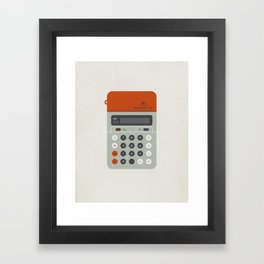 "Vintage Calculator Series: ""Electronic 101"" Framed Art Print"