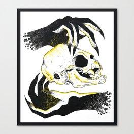 Invoked Bat Skull Canvas Print