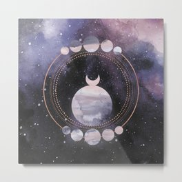 Full Moon Salutation Metal Print