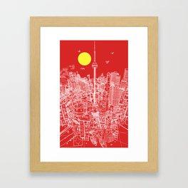 Toronto! Red (Version #2) Framed Art Print