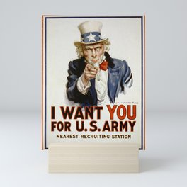I want you for US army Poster Uncle Sam Poster Mini Art Print