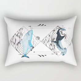 sharks on point Rectangular Pillow