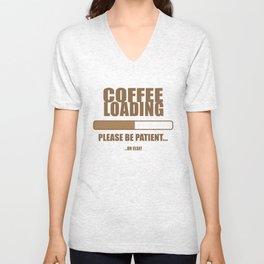 Coffee Loading.... Unisex V-Neck