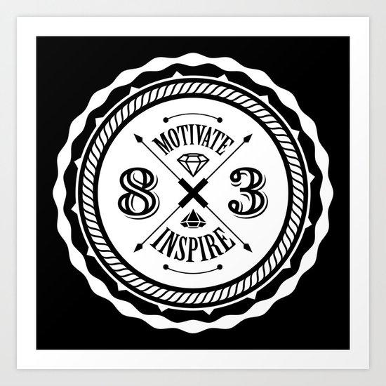 Motivate & Inspire (White) Art Print