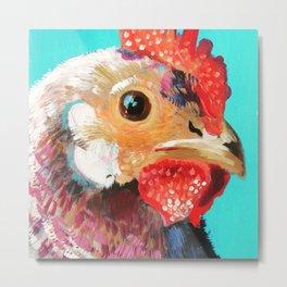 Perplexed Chicken  Metal Print