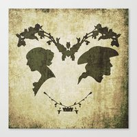 silhouette Canvas Prints featuring silhouette by Camille