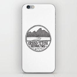 Grand Teton National Park Illustration iPhone Skin