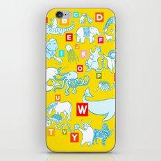 Yellow Alphabet iPhone & iPod Skin