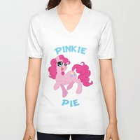mlp V-neck T-shirts featuring MLP FiM: Pinkie Pie by Yiji