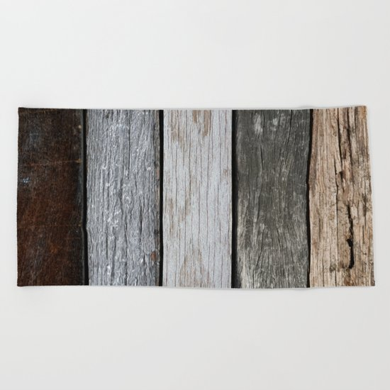 Wood Texture Beach Towel