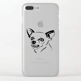 Angry Dog Clear iPhone Case