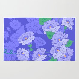 Abstract flowers with background Rug