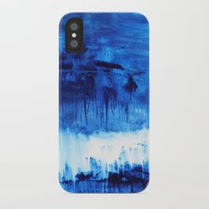Blue Abstract Slim Case iPhone X