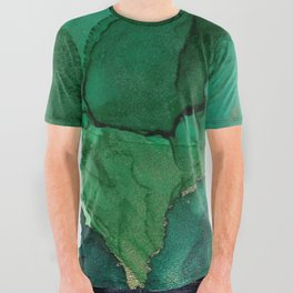 Ocean gold All Over Graphic Tee